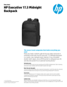 HP Executive 17.3 Midnight Backpack (English)