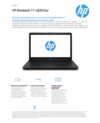 HP Notebook - 17-ca0033ur