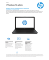 HP Notebook - 15-ra062ur